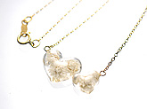 Love Flowers【Pearl White】ペンダント 14kgf